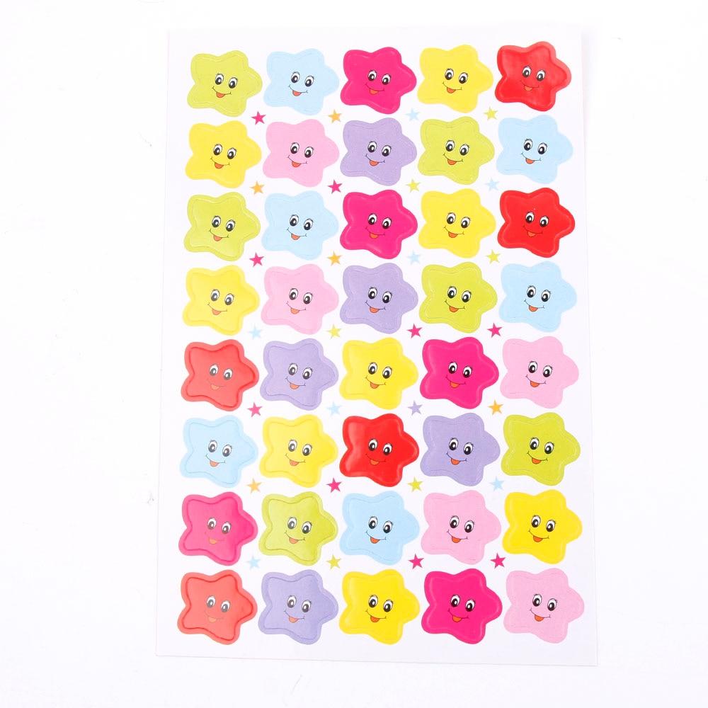 10pcs 400pcs Smile Stars Decal School Children Kids Teacher Label Reward Cute Sticker For DIY Scrapbook Decor School Sticker