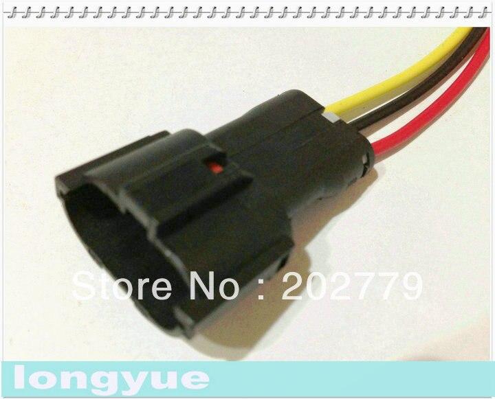 longyue 20pcs universal 3 pin male ket pigtail connector automotive rh aliexpress com Automotive Wire Terminals Automotive Wire Covers