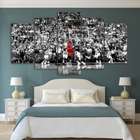 5 piece canvas art basketball chicago bulls posters and prints painting canvas pictures for living room Free shipping
