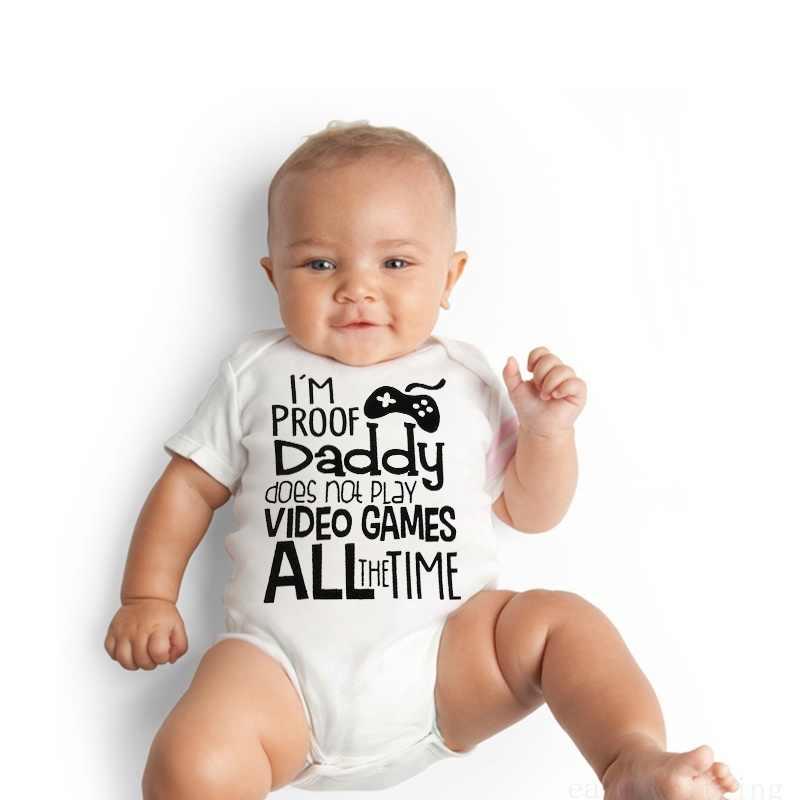 DERMSPE/Новинка 2019 года; комбинезон для новорожденных мальчиков и девочек с короткими рукавами и буквенным принтом; комбинезон; летняя детская одежда; цвет белый