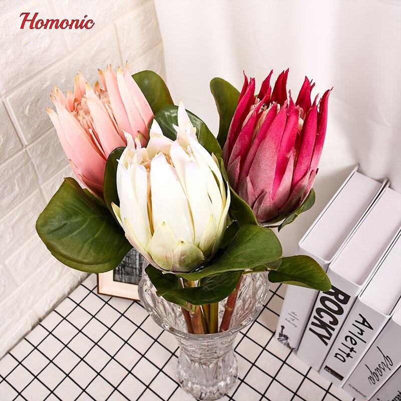 groot kunstbloemen boeket Zuid-Afrika nationale bloem Protea - Feestversiering en feestartikelen - Foto 4