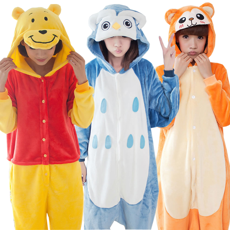 c36124366c Halloween Animal Costume Onesies For Adults Overall Pajamas Autumn Winter  Women Flannel Animals Pajamas Hooded Cosplay C060-in Anime Costumes from  Novelty ...
