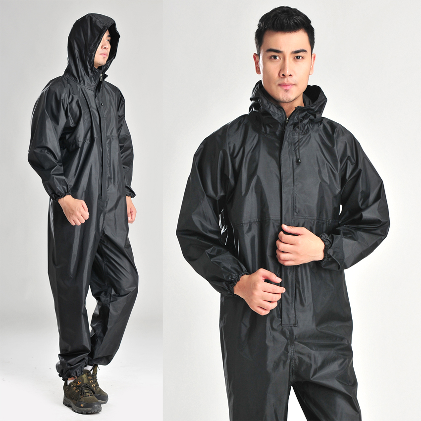 Womens//mens Electric Motorcycle Thick Riding Rain Coats Pants Plus Size hooded