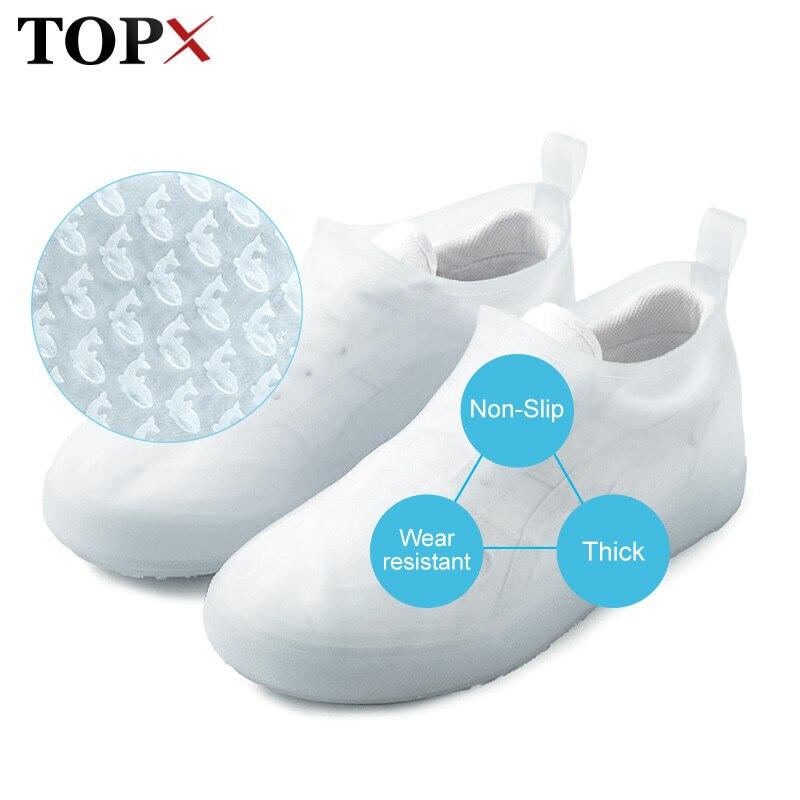 Non-slip Waterproof Cover Shoes Men Women Elasticity Latex Rain Covers Easy