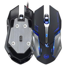 Realiable mouse  gaming mouse3500 DPI 6 Button Optical Custom Macros USB Wired Gaming Steel Mouse Mice