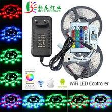 5 м 10 м водонепроницаемый светодиодный светильник DC 12 В 60 Светодиодный s/M Гибкая RGB лента WiFi светодиодный светильник веревочный светильник для внутреннего украшения дома