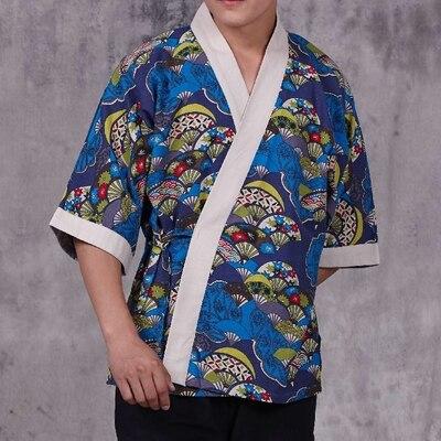 new Japan Style chef uniform Japanese Chef service Kimono work wear Restaurant work clothes Tooling uniform Japan Chef Jackets