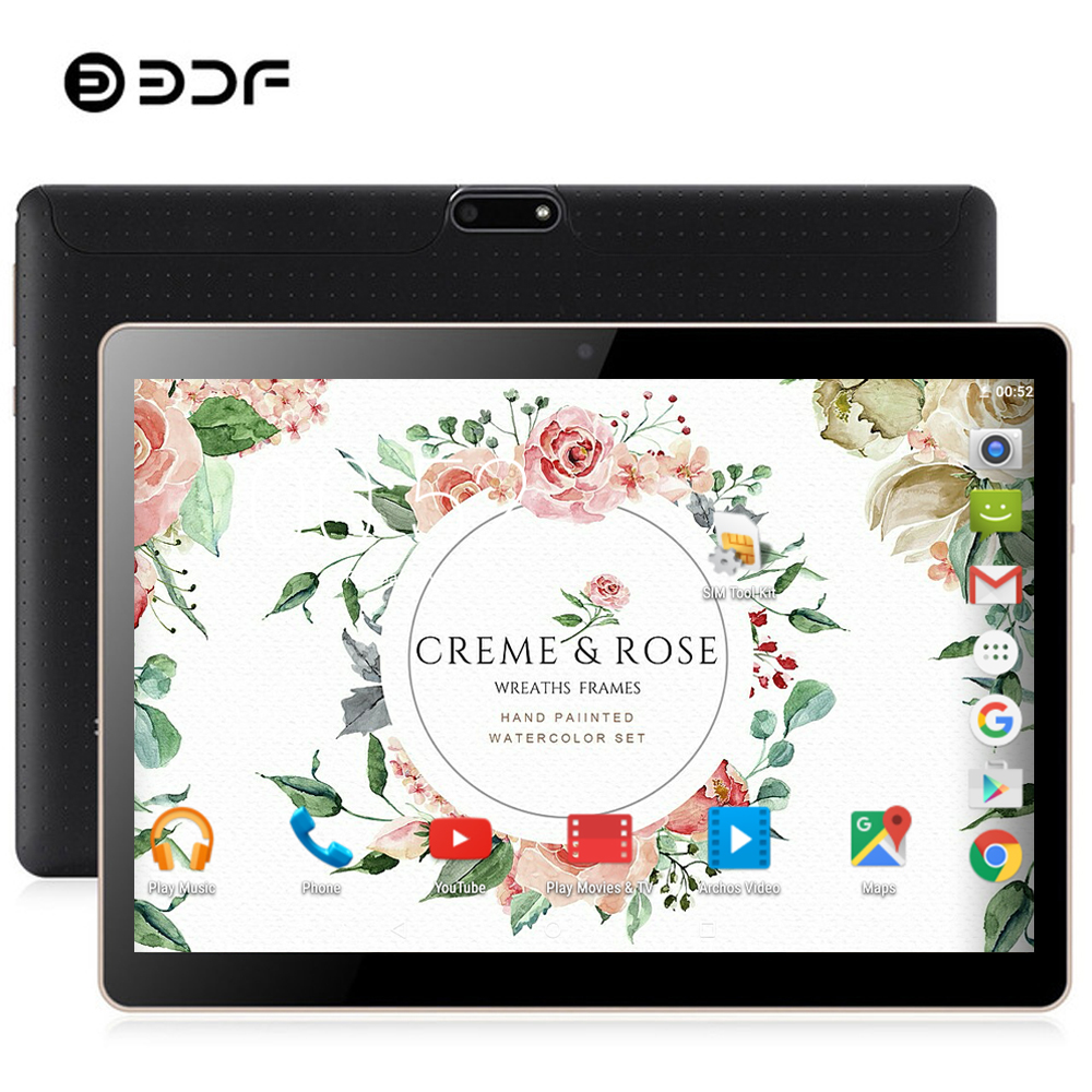 BDF New Tablet 10 Inch 3G Phone Tablet Pc Quad Core Android 7.0 Dual SIM Card 1GB RAM 32GB ROM 7 8 9 10 Mobile Phone Tablet 10.1