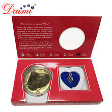 DAIMI Wish Boxes Wish Pearl Pendant Necklace Popular Gift Cage Holder Natural Oyster Gift Box for Christmas Gift