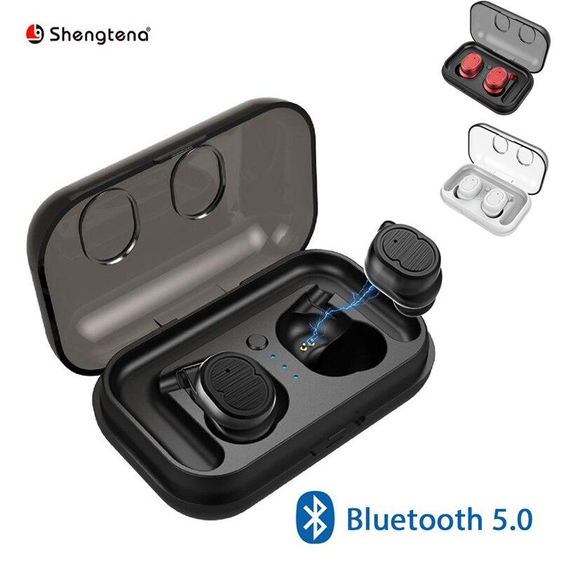 Shengtena TWS Bluetooth 5.0 écouteurs sans fil intra-auriculaires sans fil stéréo Bluetooth écouteurs sans fil pour téléphone