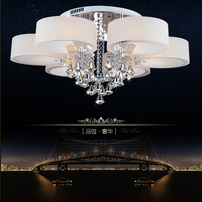 Free shipping Crystal lamp acryl  led ceiling light living room lights modern brief bedroom lamps lighting pendant light 220V d250mm crystal ceiling lamp bed room ceiling lights top crystal ball k9 crystal modern ceiling lights free shipping