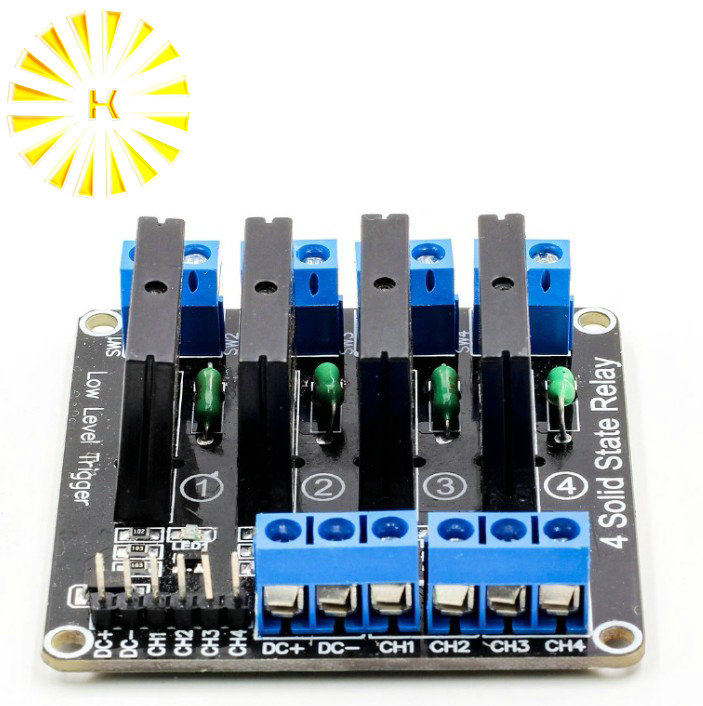 4 Channel 5V DC Relay Module Solid State Low Level G3MB-202P Relay SSR AVR DSP for arduino Diy Kit4 Channel 5V DC Relay Module Solid State Low Level G3MB-202P Relay SSR AVR DSP for arduino Diy Kit