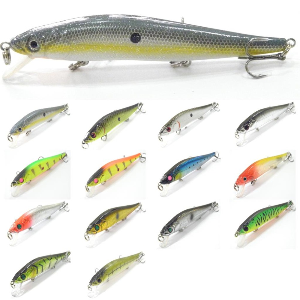 wLure Fishing Lure Minnow Shallow Water Slow Wobble Jerkbait Heavy Body ABS Construction Long Casting 24g 13.3cm Hard Bait M262 slow finnish 24