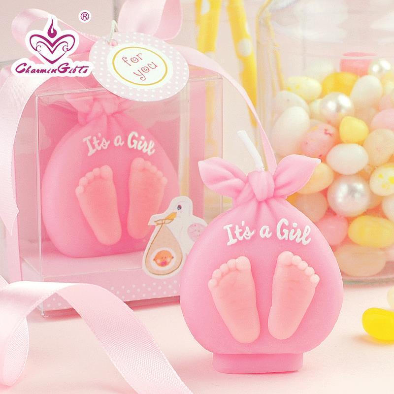 it is a girl boy candle baby shower baptism party favor children birthday gift present chirtsmas