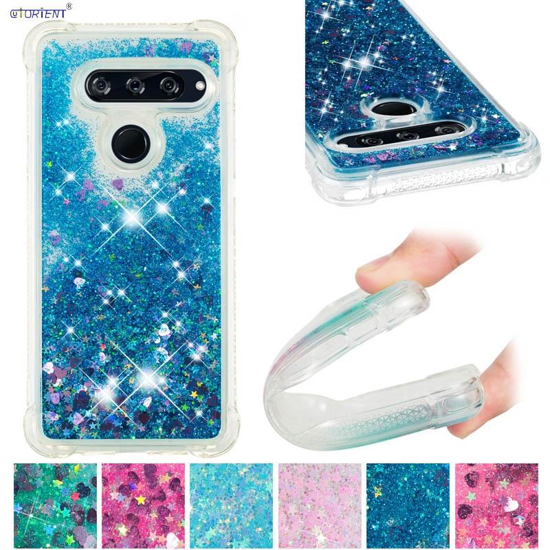 Glitter Cover For Lg V40 Thinq Bumper Case For Lg V40 Lm-v405ua V405qa7 Dynamic Liquid Glitter Bling Sand Soft Tpu Phone Case Good For Energy And The Spleen Cellphones & Telecommunications