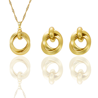 Quality fashion women necklace earrings jewelry sets crystal gold color big round wedding party indian jewelry.jpg 200x200