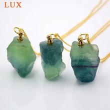 Natural gem stone Perfume Bottle Pendant Essential Oil Diffuser Necklace  green color fluorite stone pendant natural stone pendant necklace