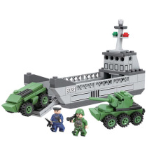 Winner 8021 Fuel tank car Army Military Soldiers Tank Gun Building Blocks Assembled Bricks Minifigure Toys Compatible With Legoe