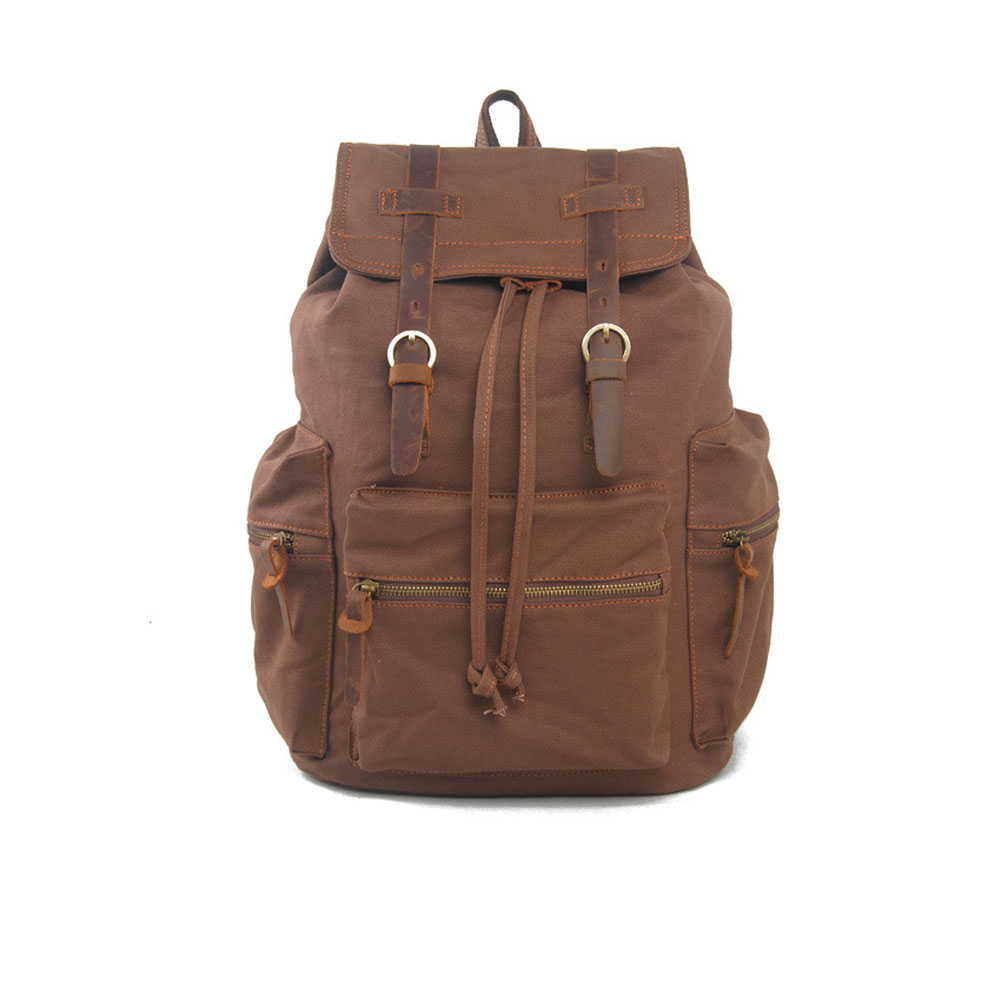 f697cc149 Vintage Men Casual Canvas Leather Backpack Rucksack Bookbag Satchel Hiking  Bag Best Sale WT-in Backpacks from Luggage & Bags on Aliexpress.com | ...
