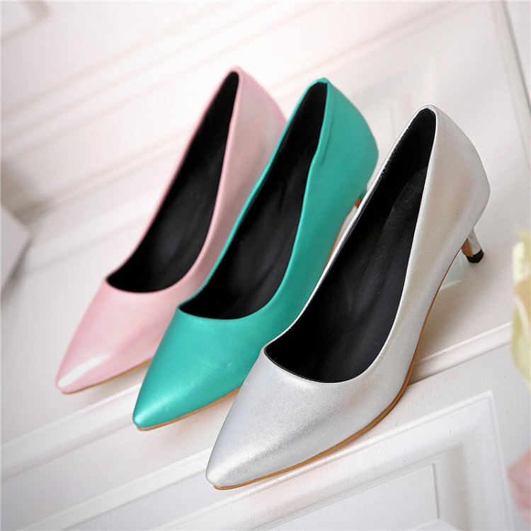 Big Size 34-45 Shoes Woman 2017 New Arrival Wedding Ladies Low Heel Shoes Fashion Sweet Dress Pointed Toe Women Pumps T330 plus big size 34 52 shoes woman 2017 new arrival wedding ladies high heel fashion sweet dress pointed toe women pumps e 177
