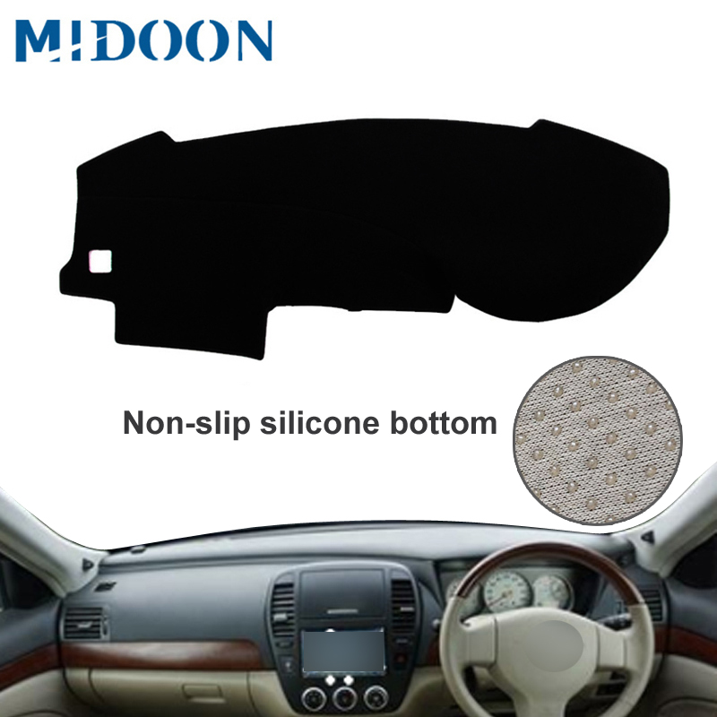 MIDOON For Nissan Bluebird Sylphy Sedan 2005 2006 2007 2008 2009 2012 Car Styling Covers Dashmat Dash Mat Sun Shade Dashboard Co