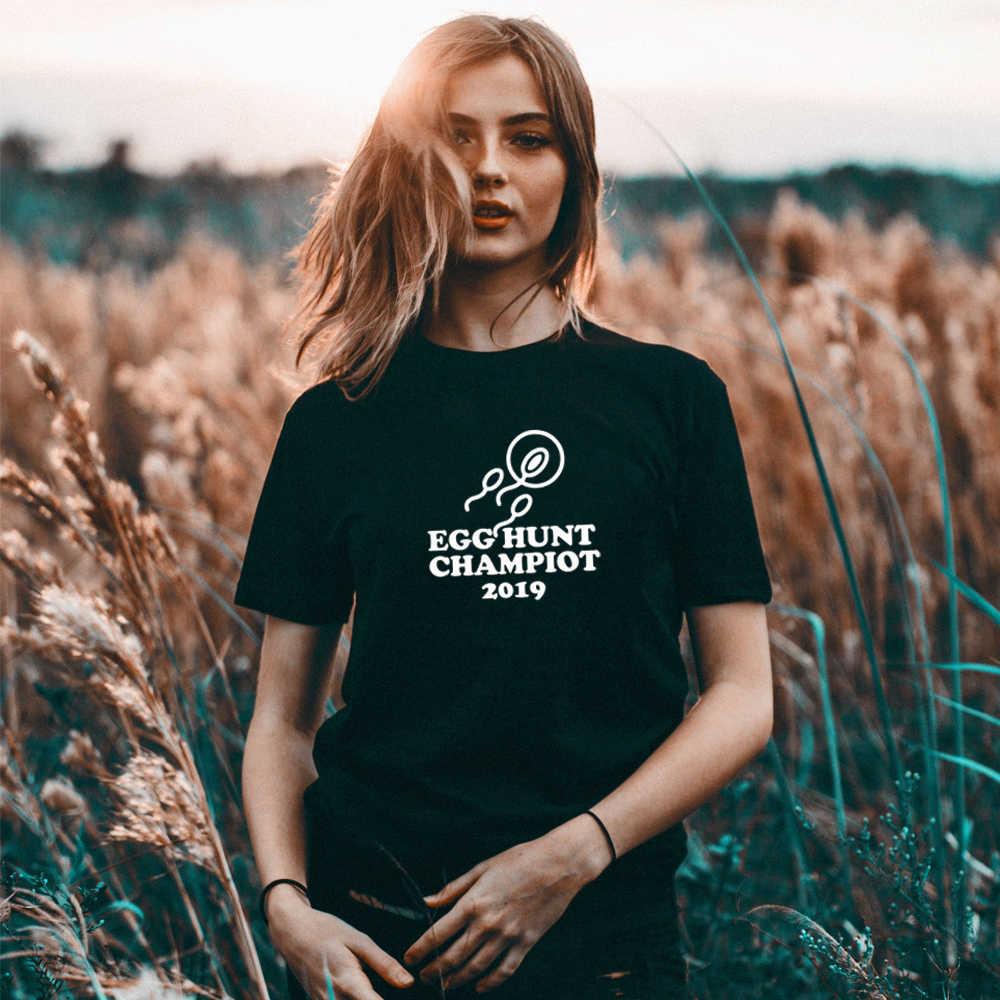 Pasqua Gravidanza Annuncio Shirt per le donne T Shirt di cotone Tee Regalo Presente di Nuovo Mamma Madre di essere Divertente Rivelare Mamma top