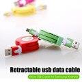 Colorful v8 cabo micro usb 5 pinos retrátil cabo cabo kabel para samsung galaxy xiaomi htc sony huawei um mais android 2.0