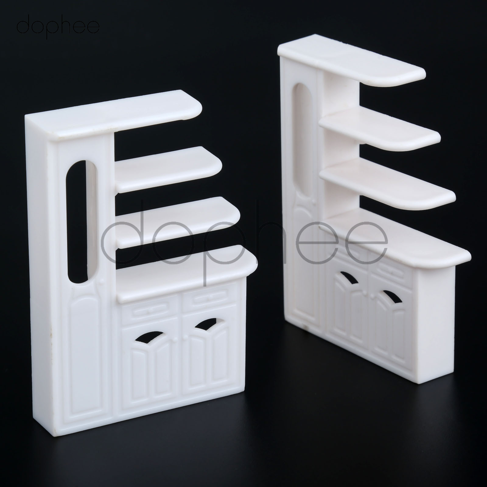 Permalink to dophee 5pcs 1:20 Miniature Kitchen Cabinet Model Kitchen Dining Cabinet Display Shelf White Doll House Decoration Accessories