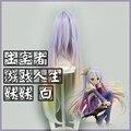 No game no life Shiro Cosplay Wig  Multicolour Synthetic Hair 100cm Long Curly Anime Cos Wigs 375A