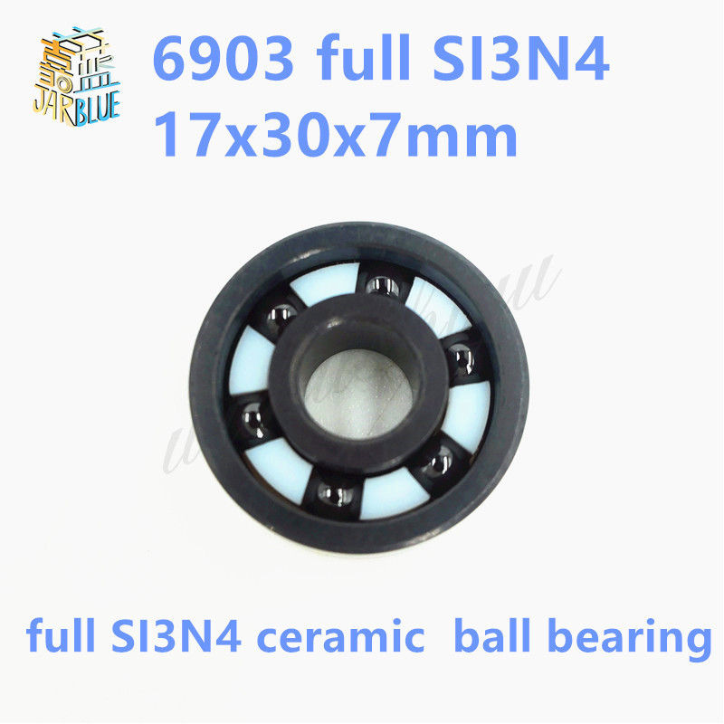Free shipping 6903-2RS full SI3N4 ceramic deep groove ball bearing 17x30x7mm 6903 61903 free shipping 6903 2rs 6903 61903 hybrid ceramic deep groove ball bearing 17x30x7mm