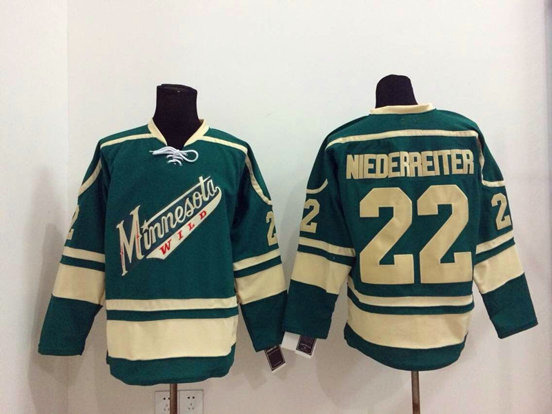 buy popular a5c6e 6df41 Nino Niederreiter Jersey #22 Minnesota Wild Jerseys red home ...