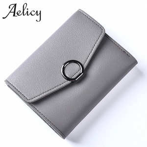 Aelicy Short Purse Money-Bag Leather Wallet Coins Small Mini Women Clutch Zipper Lady