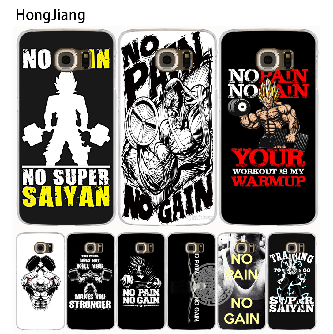 HongJiang dbz <font><b>dragon</b></font> <font><b>ball</b></font> <font><b>z</b></font> No pain no gain son goku cell <font><b>phone</b></font> <font><b>case</b></font> cover for Samsung Galaxy A3 A310 A5 A510 A7 A8 A9 2016 2017