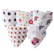 Baby Bibs High Quality Triangle Double Layers Cotton Cartoon Character Animal Print Bandana Dribble