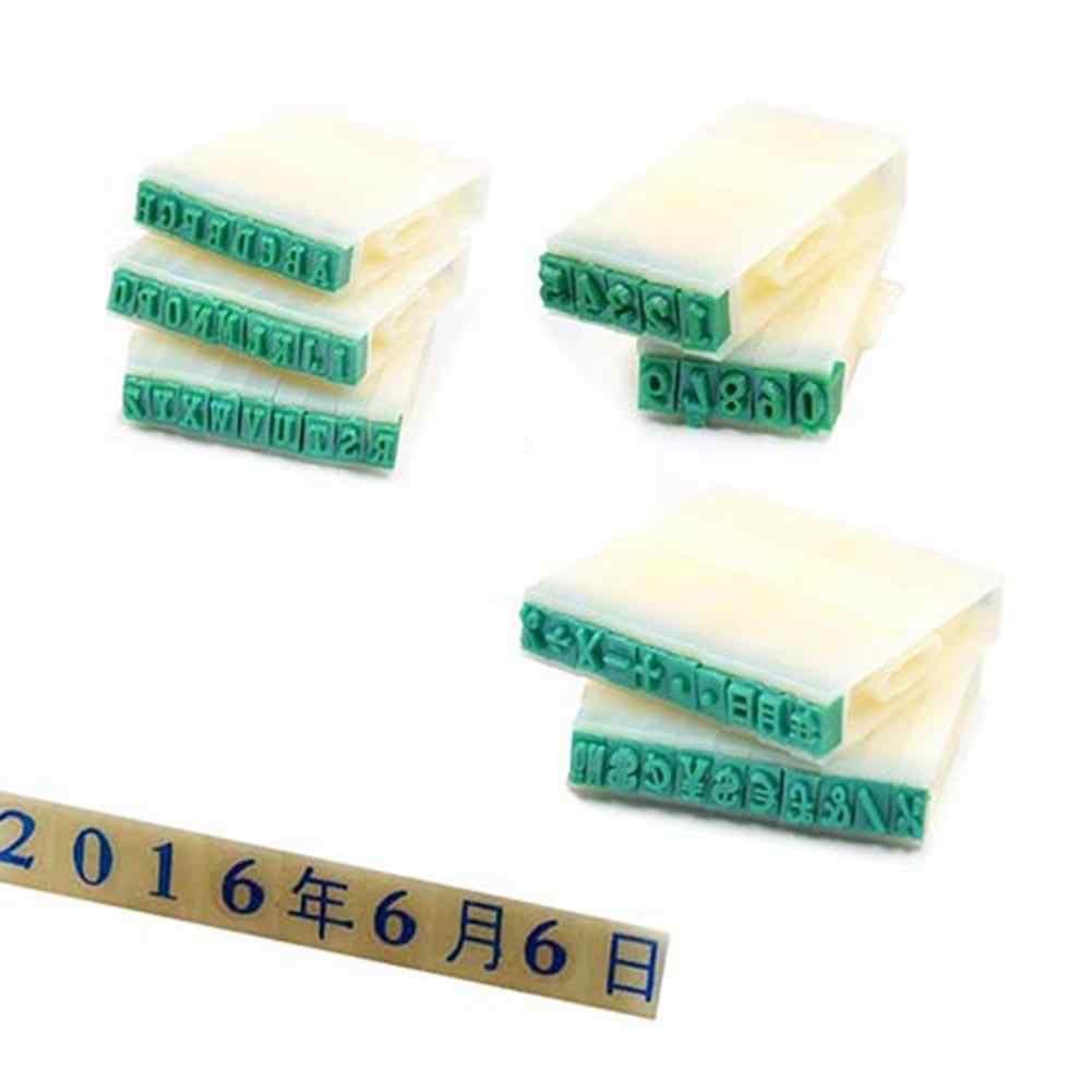 40 # Plástico DIY Inglês Letras Do Alfabeto Selos Número Set Artesanato Ferramenta de Marcação Stampers Set