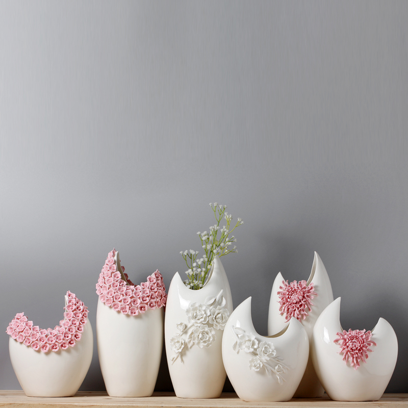 crescent shape ceramic vases decoratives creative flower vase for wedding decorationcrescent shape ceramic vases decoratives creative flower vase for wedding decoration