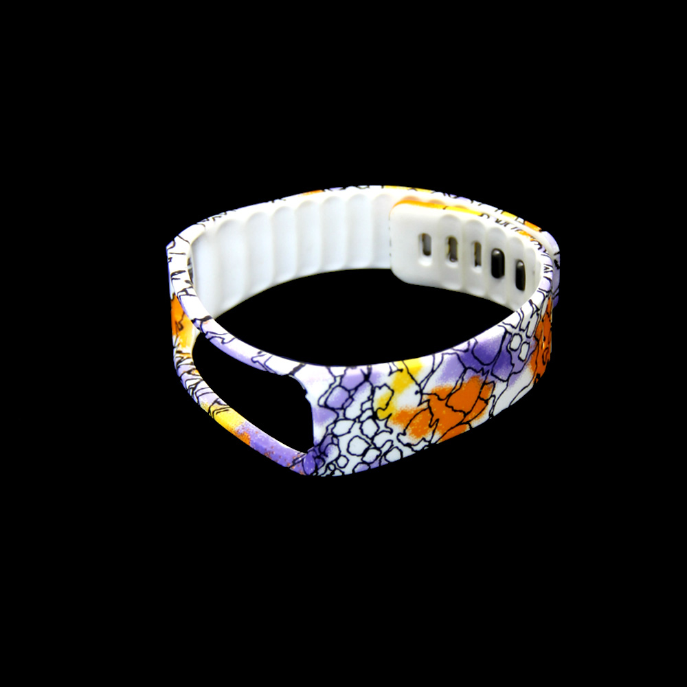 3 Colors Flower Patterns Replacement Band Wristband Bracelet For Samsung for Gear Fit R350 Smart Band Bracelet Strap Watch