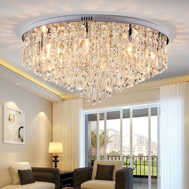 Modern Crystal Chandelier Lighting Flush Mount Chandeliers Light For Living Dining Room Bedroom Hall Restaurant