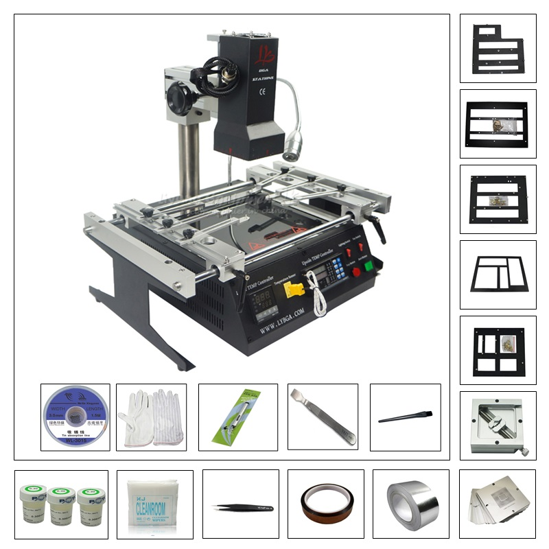 2019 NEWEST LY IR6500 BGA rework station with 80MM/90MM game console bga kit pack