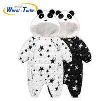 Mother Kids Baby Clothing One Pieces Rompers Winter Baby Hooded Rompers Newborn Clothing Polar Fleece Infant Baby Jumpsuits