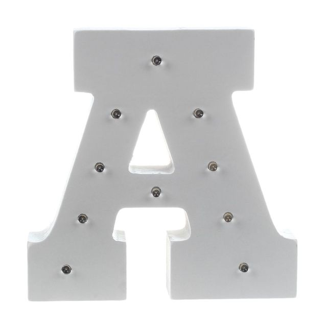 White Wooden Letter Decorative Light Wedding Party Showcase Led Spelling Light 15133cm In Glow Party Supplies From Home Garden On Aliexpresscom