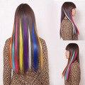 Mujeres superiores de moda de Girl 's 15 color con Clip en la extensión del pelo caliente para el partido a estrenar 10 unids/lote envío gratis