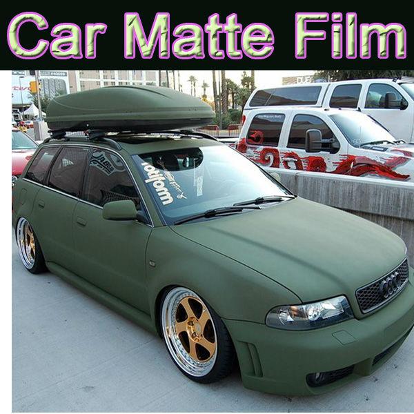 Army Green Matte Car Wring Vinyl Foil Air Bubble Free 1 52 30m