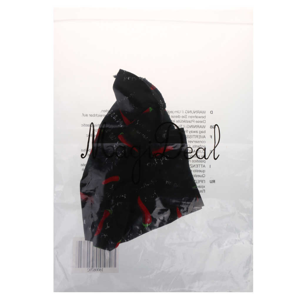 Adjustable Unisex Chef Cap Tie Back Hat Pirate Headwrap Bandana cuisine Kitchen Catering Waiter Baker Red Pepper Print