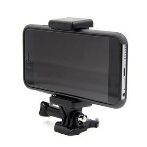 Image 5 - Przenośna czarna kamera akcesoria regulowany uchwyt z 1/4 otwór na śrubę stojak na telefon uchwyt klip statyw Adapter do GoPro