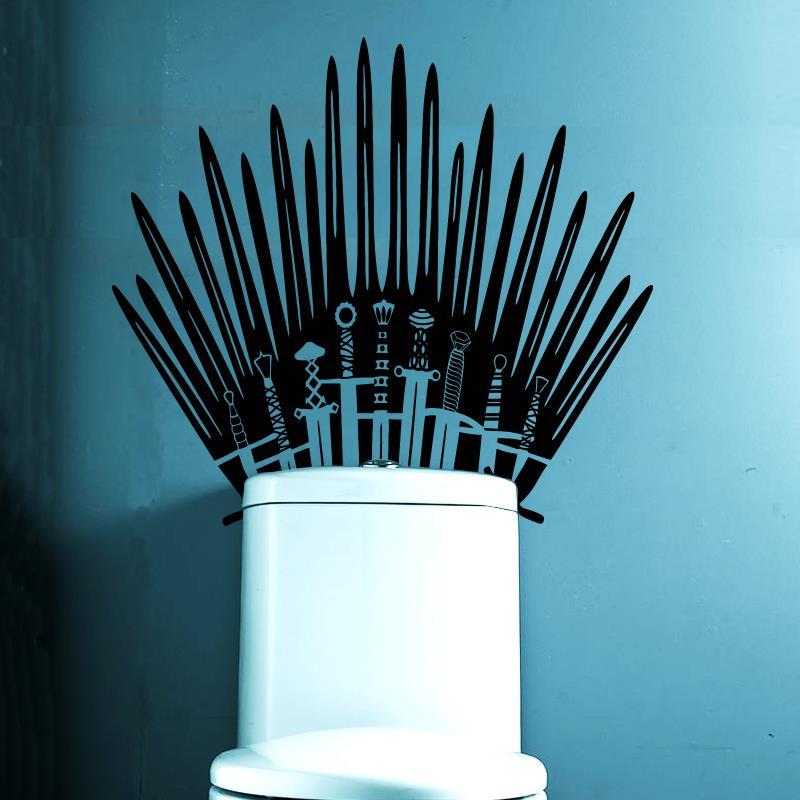 Iron Throne Toilet Decal Wall Sticker Home Decor Parody