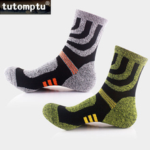 Tutomptu 1 Pairs Professional Climbing Socks Sport Socks Running Football Basketball Soccer Socks Men's Thermal Winter Socks