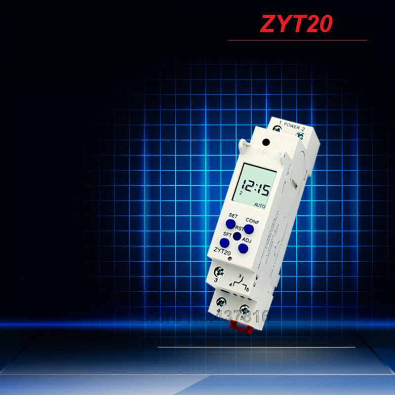 Micro-computer Time Control Switch Street Light Timing Controller Timer Switch ZYT20