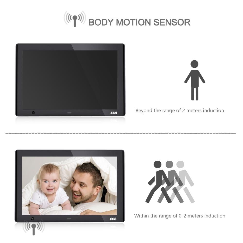 SSA 10,1 zoll Körperbewegungssensor Digitaler bilderrahmen ...