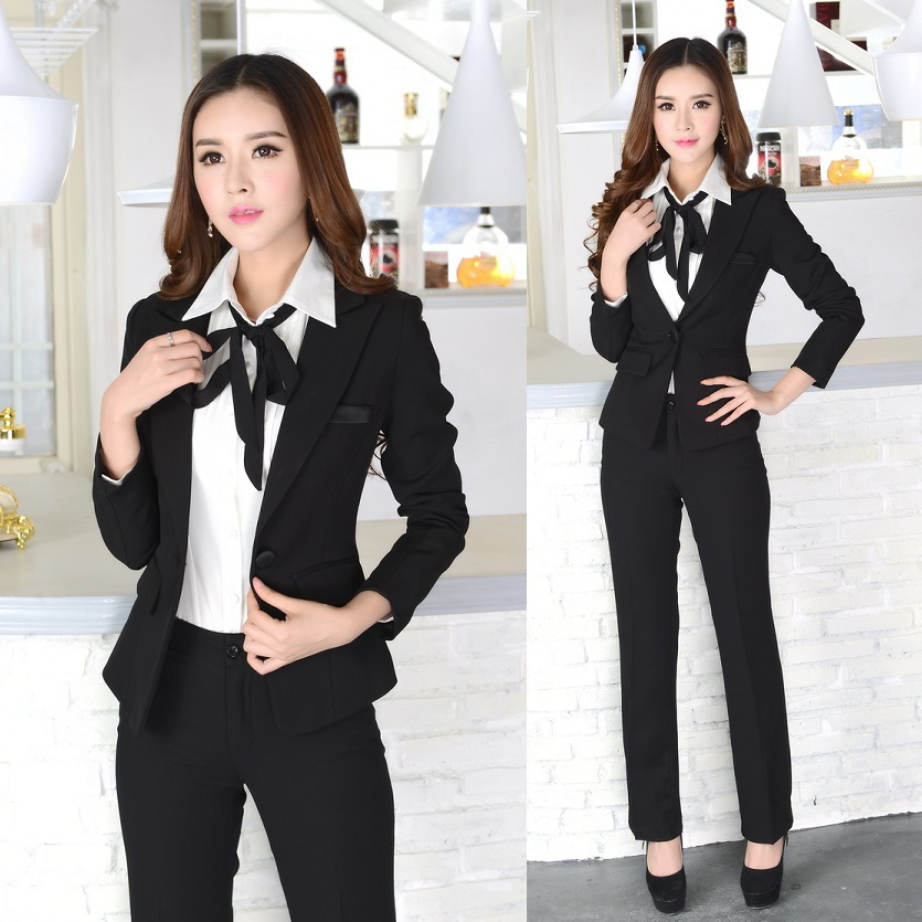 New 2016 winter formal office uniform designs women suits for Office uniform design 2016